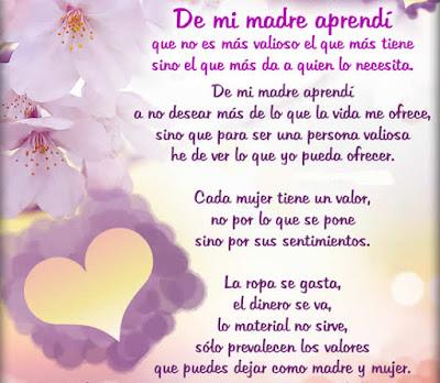 Mensaje Positivo para el día de la madre - De mi madre aprendí...