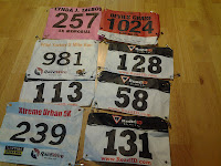Lance Eaton's race numbers thus far.