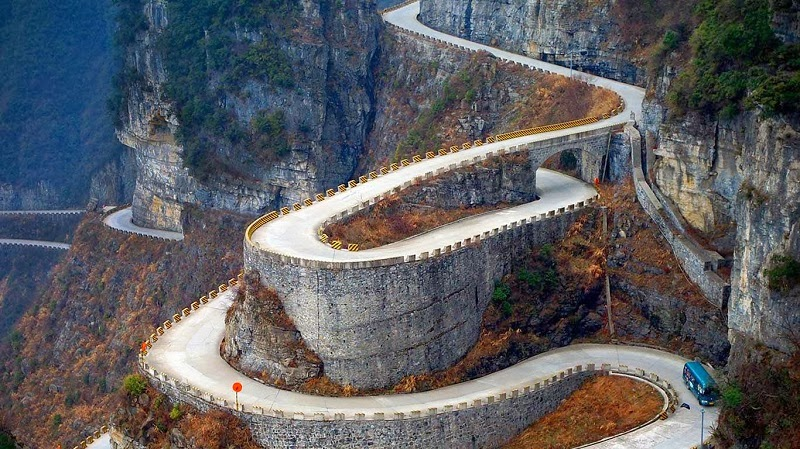 The Breathtaking Walk of Faith in Tianmen Mountains, China
