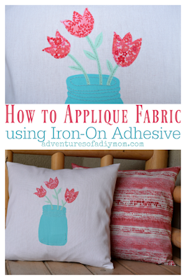 How to applique fabric using iron on adhesive