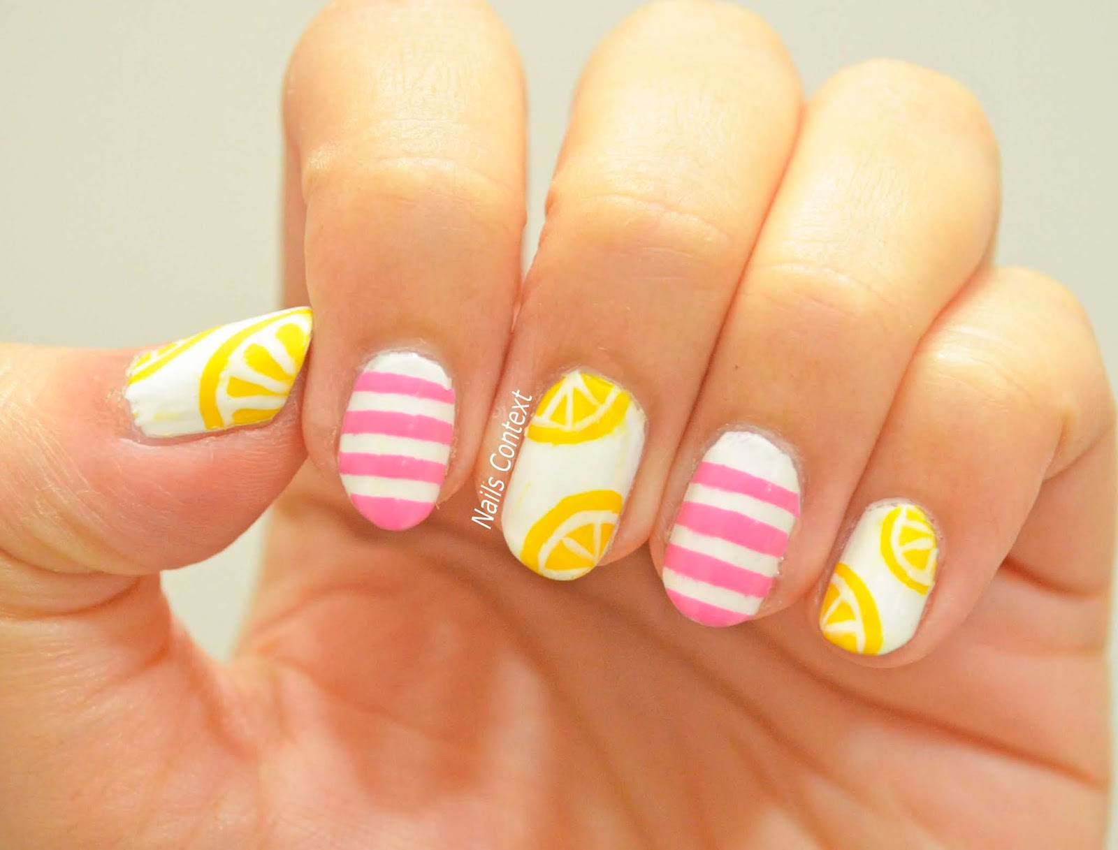 The Polishes That I Used Are Essie S Lovie Dovie Zoya Darcy And Purity See My Previous Lemon Nails Here