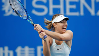 Sharapova, Halep advance to semifinals at Shenzhen Open