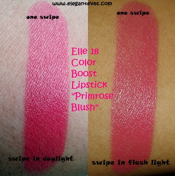 ELLE 18 Primrose Blush Color Boost lipstick.