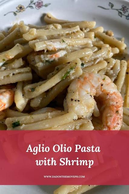 Aglio Olio Pasta with Shrimps recipe