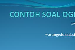 CONTOH SOAL OGN IPS 2018
