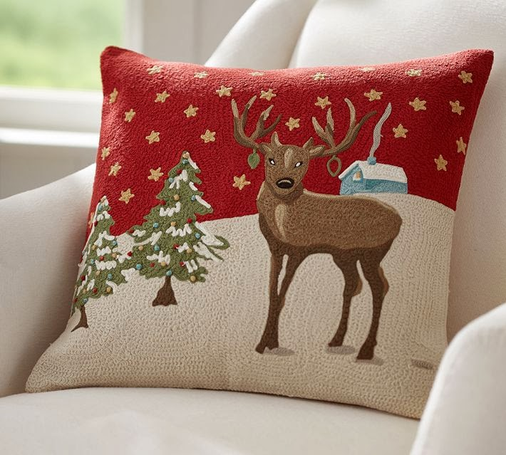 "retropolitan: ""Nostalgic"" Christmas pillow!"