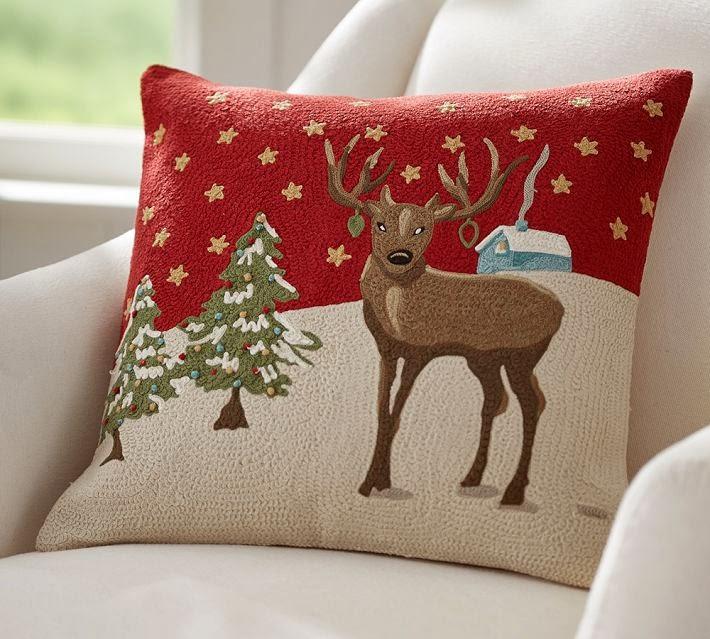 "retropolitan: ""Nostalgic"" Christmas pillow!"