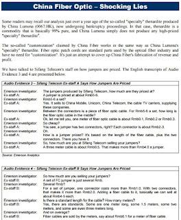 股市疑似 莊家/經紀/幫莊蠱惑招奇文錄: 中國光纖 (3777) 除牌: 被沽空機構 Emeron Analytics 質疑帳目造假