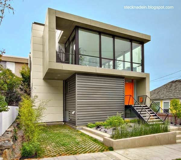 Arquitectura De Casas Modernas Y Contemporaneas Fachadas - Fachada-de-casas-de-dos-plantas