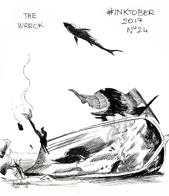 wreck-inktober-lucyowlart-luciaalocchi