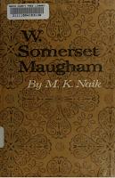 W. Somerset Maugham - M.K. Naik