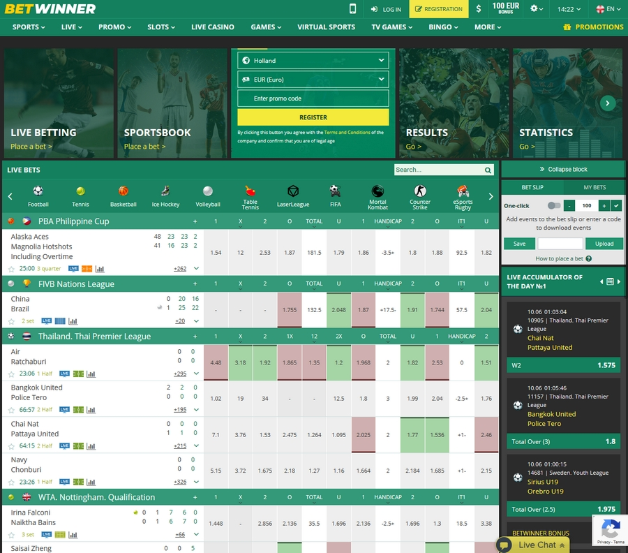 Betwinner Sportsbook
