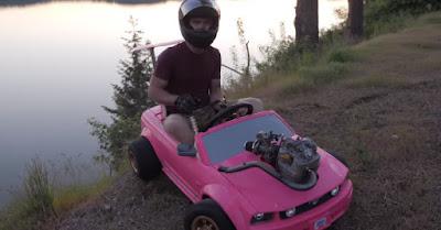 Carrinho da Barbie motorizado