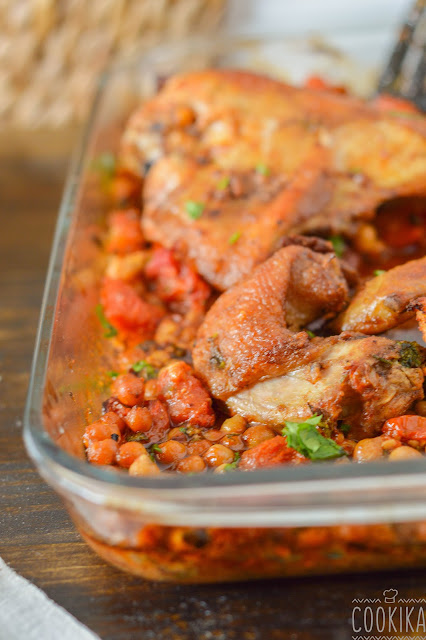 Spicy Roasted Chicken with Chickpeas