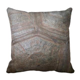 Tortoise shell throw pillow