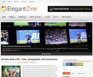 ElegantZine 2 Column Blogger Template