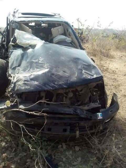 FB IMG 1518434412389 - Photos from the scene of auto crash that killed former Minister, General John Shagaya in Plateau state