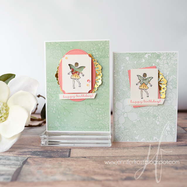 Birthday Card, Fairy Celebration, Fancy Friday, Succulent Garden DSP, Touches of Texture, Stampin' Up!, Papercraft by Jennifer Frost