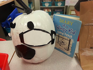 Pumpkin Book Reports- Diary of a Wimpy Kid