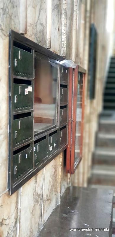 Śródmieście Warszawa Warsaw Aleksander Więckowski art deco kamienica architektura lata 30. klatka schodowa skrzynki pocztowe