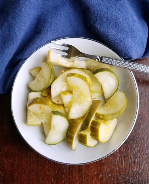 small bowl of quick pickles