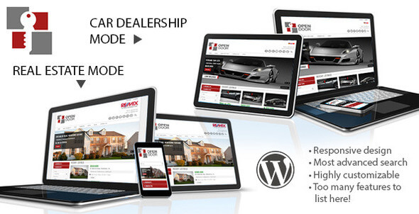 Free Download OpenDoor Real Estate and Car Dealership WordPress Theme