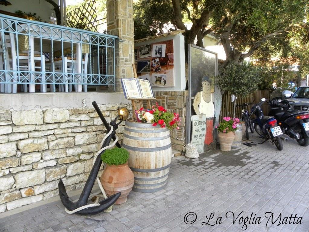 Taverna Zolithros Mikro Gialos Lefkada Grecia
