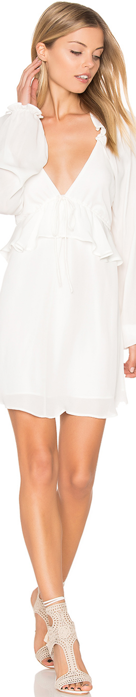 STONE COLD FOX JAY DRESS IN WHITE