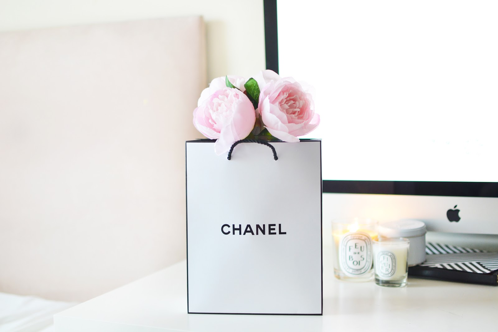 chanel peonies