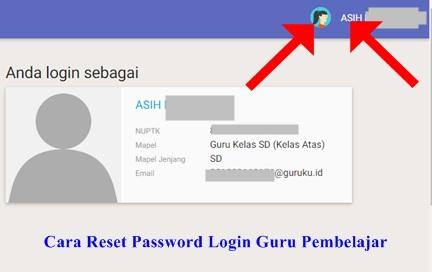 Cara Reset Password Akun Login Guru Pembelajar