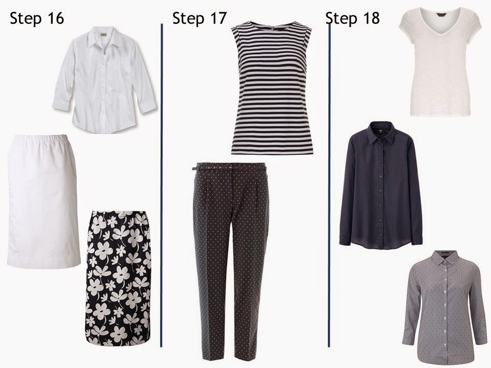Steps 16, 17 and 18 Starting From Scratch Wardrobe summer navy and white