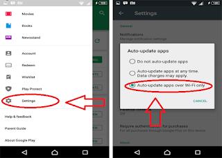 cara mematikan update aplikasi otomatis aplikasi di play store