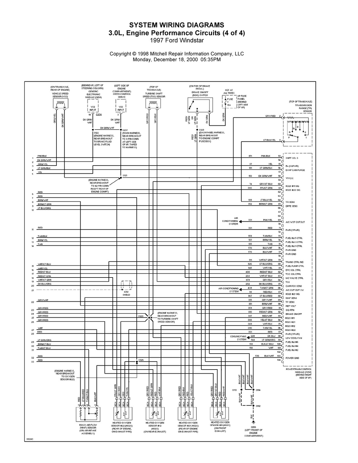 1997 Ford Windstar Complete System Wiring Diagrams 99 Aerostar Diagram We Provide You The Clear And Readable Images This Makes Easier To Comprehend Whole Parts In Schematic