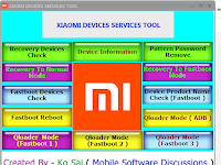XIAOMI DEVICES SERVICES TOOL Untuk Buka Pola All Xiaomi