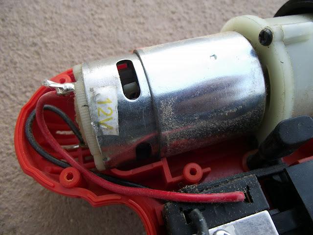 motor da Parafusadeira furadeira Black & Decker CD121K50