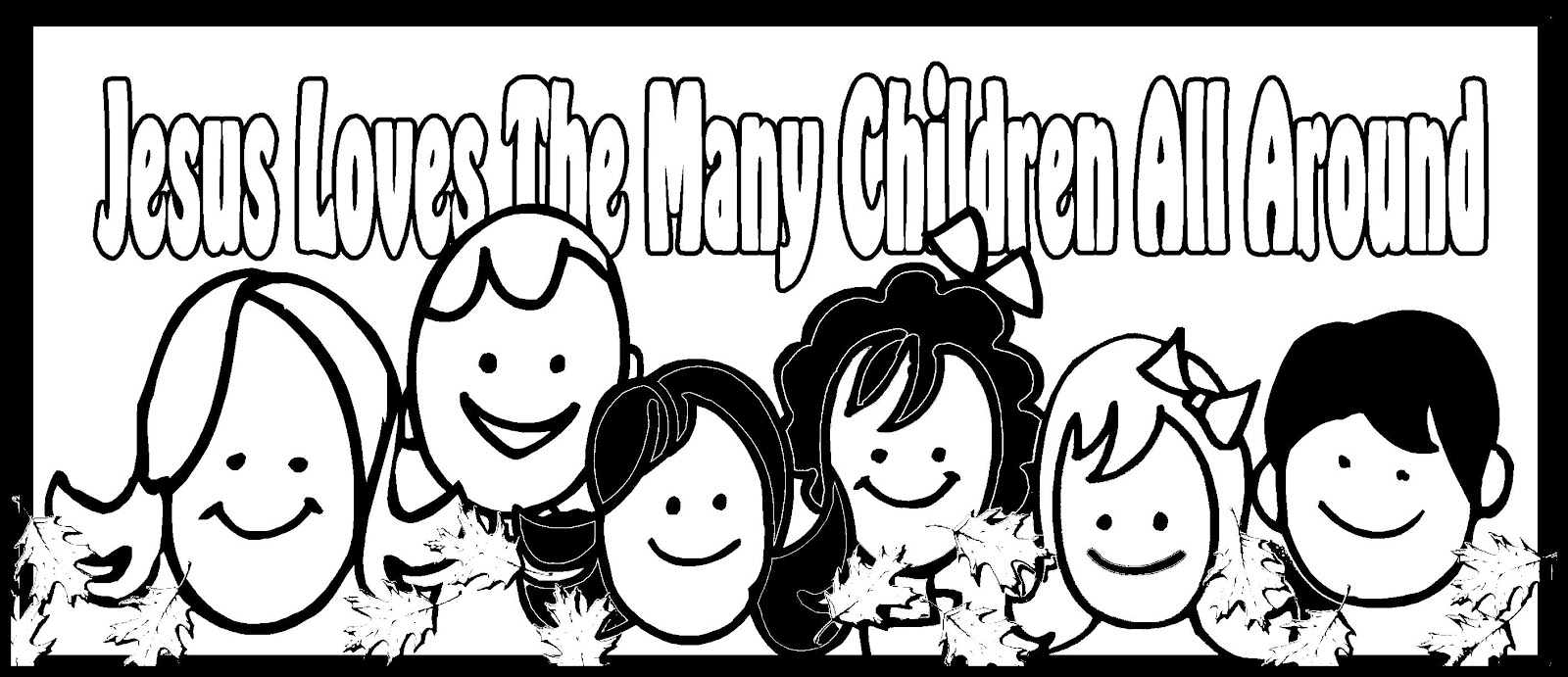 jesus with children coloring pages - harvest blessing in my treasure box jesus loves the many