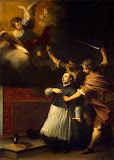 Death of the Inquisitor Pedro de Arbues by Bartolome Esteban Murillo - History Paintings from Hermitage Museum