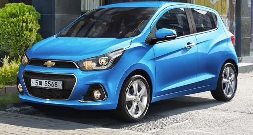 Chevrolet Spark Cars: electric blue