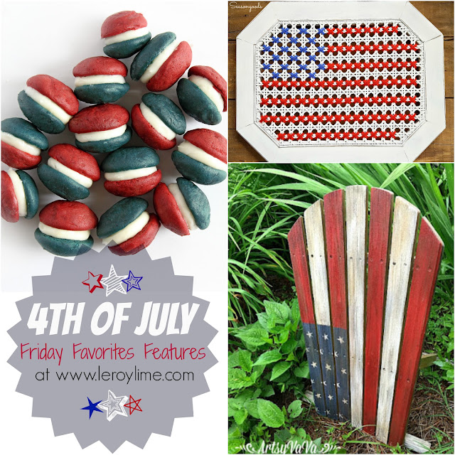 4th of July Patriotic Friday Favorites Features - Red White & Blue - featured on www.leroylime.com