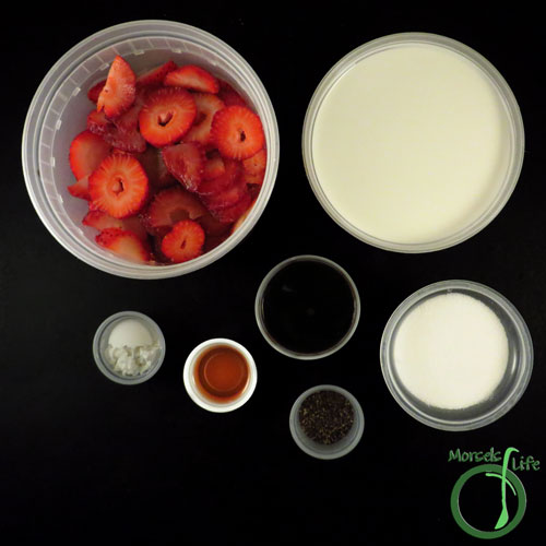Morsels of Life - Balsamic Strawberry Gelato Step 1 - Gather all materials.