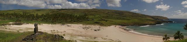 Panorama of Anakena, Easter Island - Foto Rivi