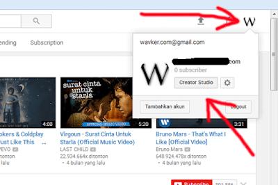 cara mendaftar dan membuat chanel di youtube