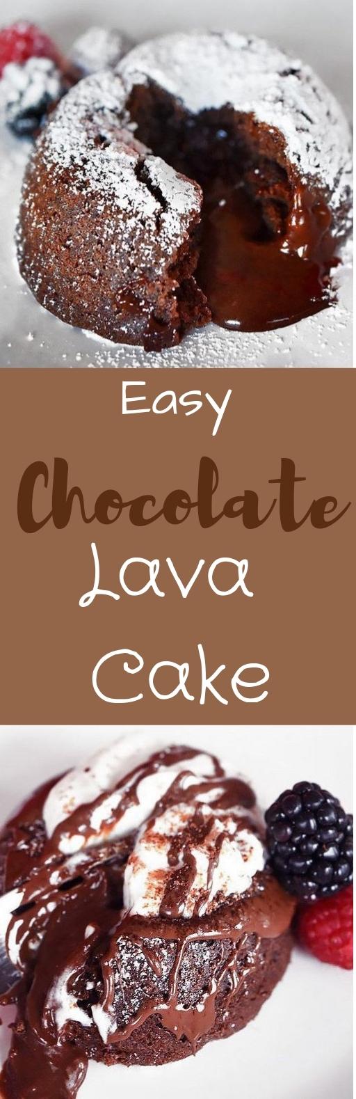 Easy Chocolate Lava Cakes #chocolatecake #dessert