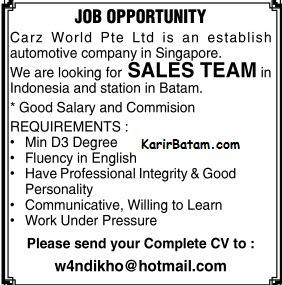 Lowongan Kerja PT. Carz World Ltd