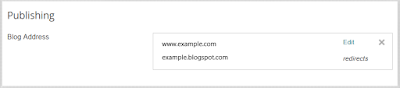setting up domain blogger