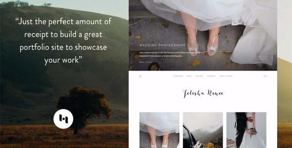 Blogger template Renee : Thème de portefeuille avec Sideblog activé