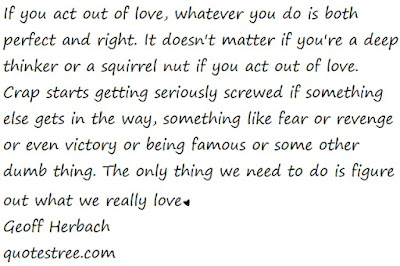act out of love quotes geoff herbach