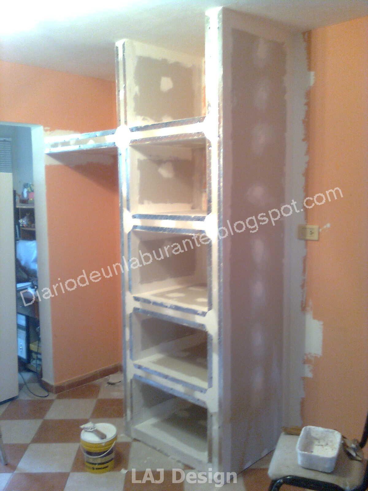 Diario de un laburante mueble durlock en la cocina parte 1 for Software para construir muebles