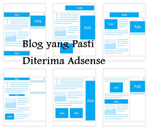 google adsense pasti menerima blog kita