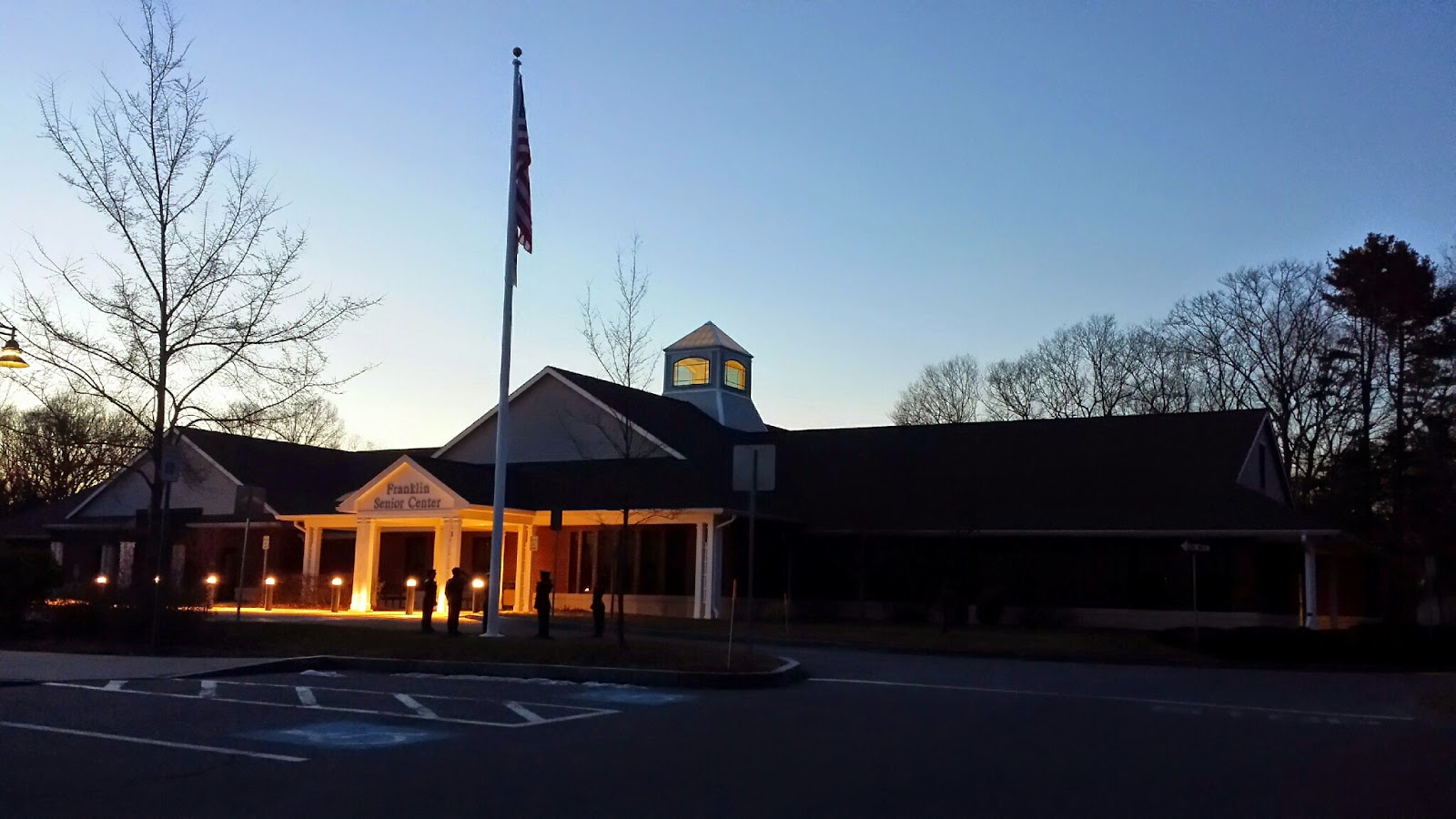 the Franklin Senior Center at night